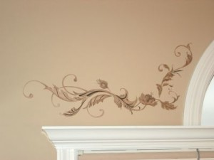 Acanthus stenciling