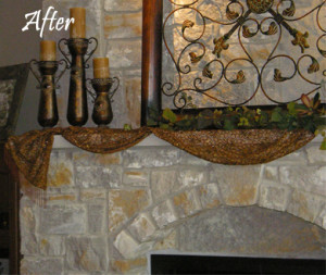 Recolored Stone Fireplace