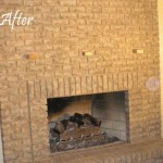 After - Limewashed fireplace brick