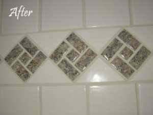 After - Repainted ceramic tile