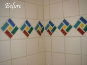 Before - Existing ceramic tile