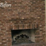 Before - Fireplace brick