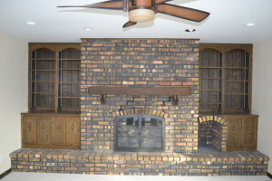 Fireplace Brick before Refinishing