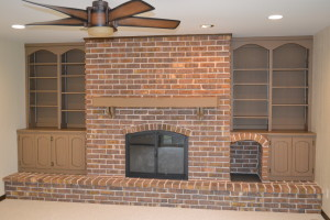 Fireplace Brick after Refinishing