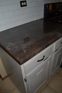 Refinished Cabinetry and Counter