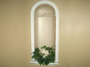 Fiberglass niche finishing