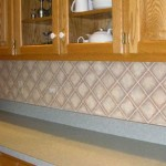 Hand-painted faux tile
