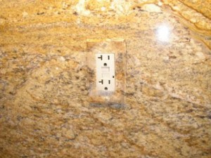 Hand-painted granite switchplate cover