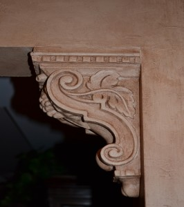 Painted and Glazed Corbel