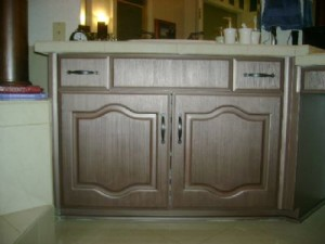 Metallic Striae Cabinets