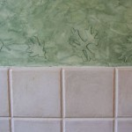 Multi-colored Venetian plaster - close up