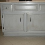 Repainted and Glazed Cabinetry