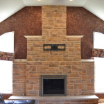 Fireplace after stone recoloring