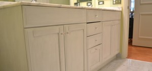 Painted and Distressed Cabinetry