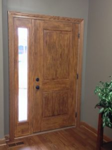 Faux Woodgrained Door